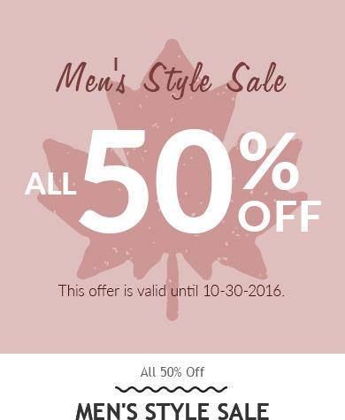 RoseGal: all 50% off men's style