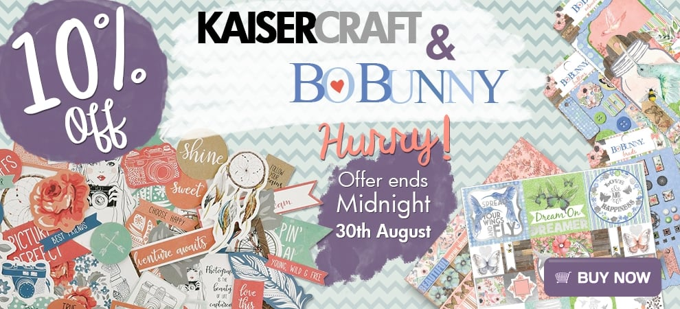 Crafters Companion: 10% off KaiserCraft and BoBunny products