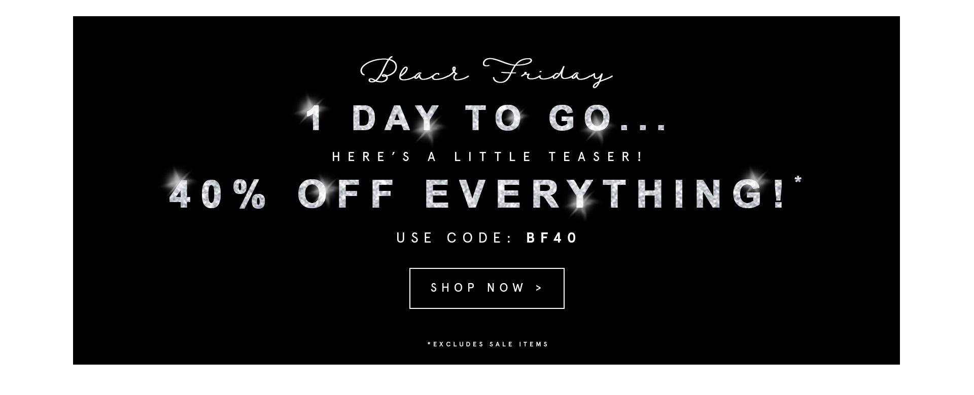 Black Friday Brand Attic: 40% off everything