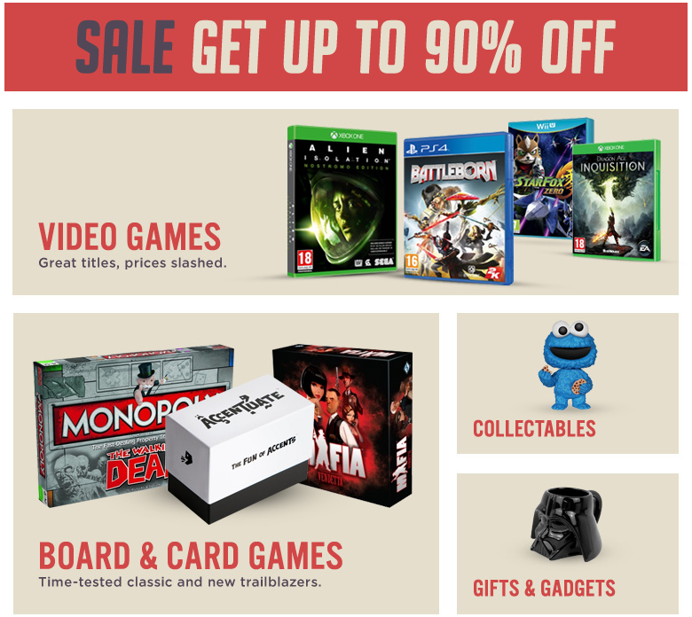 365games: Sale up to 90% off off for video games, toys, collectables and more