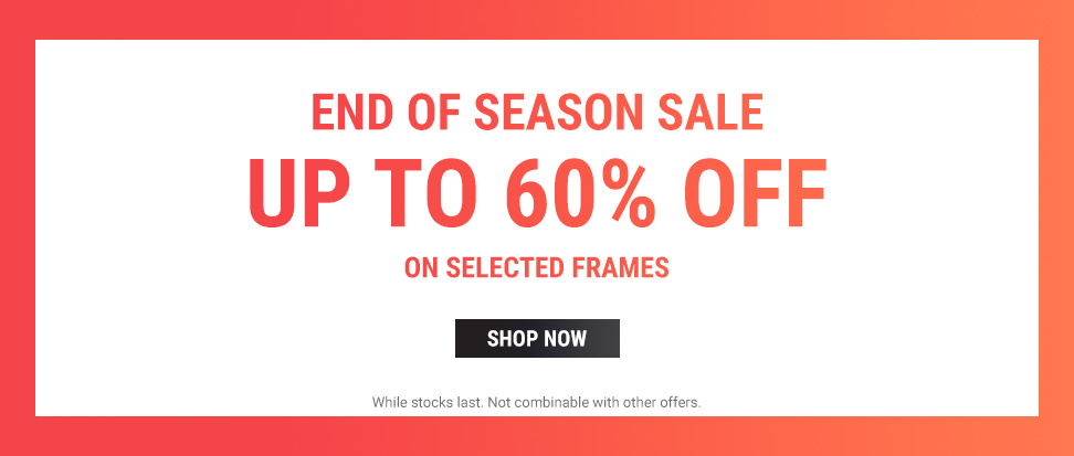 Sunglasses Shop: Season Sale up to 60% off on selected frames