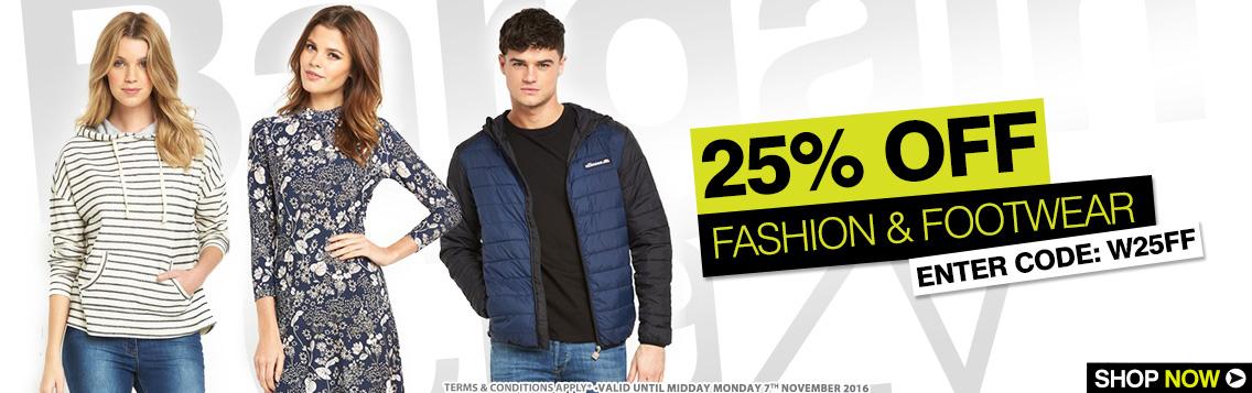 Bargain Crazy: 25% off fashion & footwear