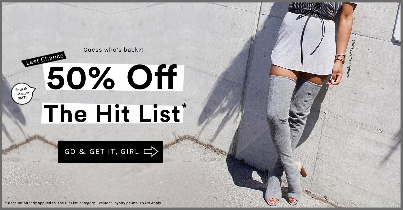Public Desire: 50% off shoes