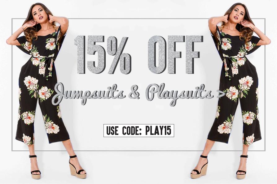 AX Paris AX Paris: 15% off jumpsuits and playsuits