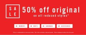 Aldo: sale 50% off