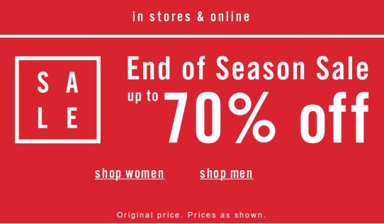 Aldo: End of Season Sale up to 70% off