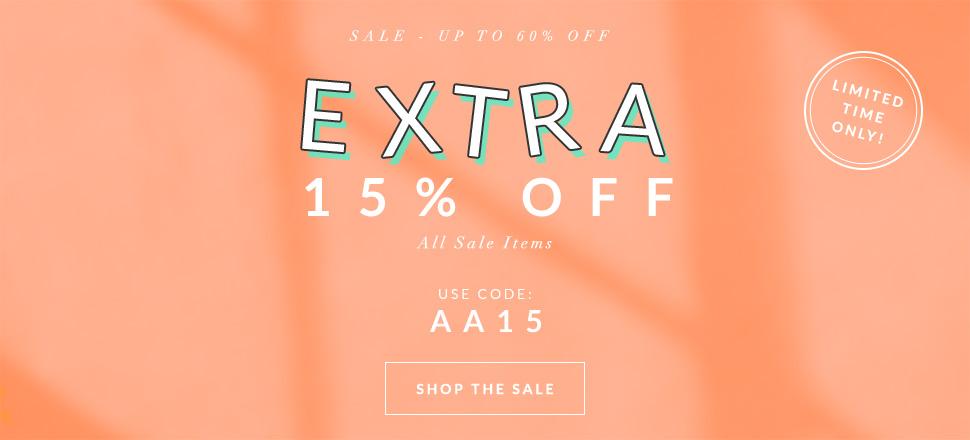 AlexandAlexa: extra 15% off all sale items
