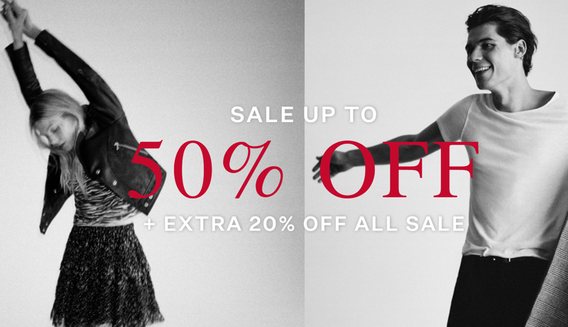 AllSaints: Sale up to 50% off + extra 20% off all sale