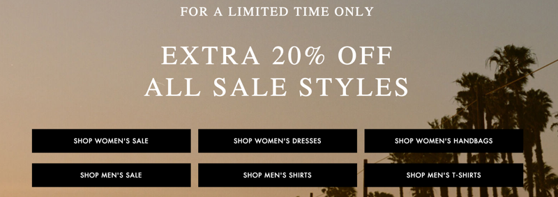 AllSaints: extra 20% off all sale styles