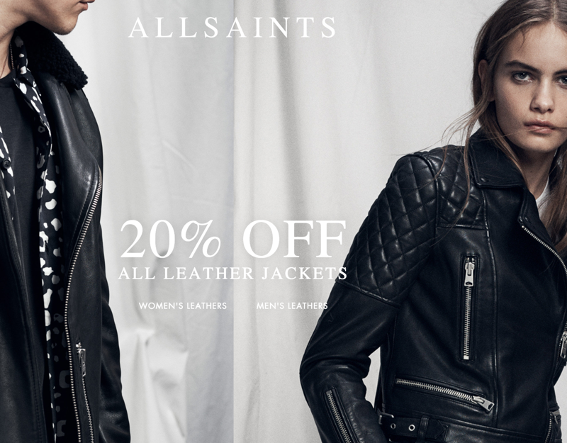AllSaints: 20% off leather jackets