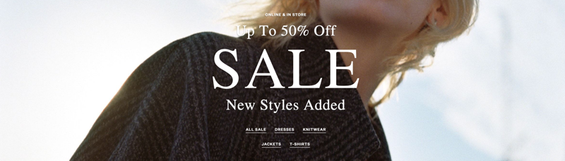 AllSaints: Sale up to 50% off women's and men's fashion