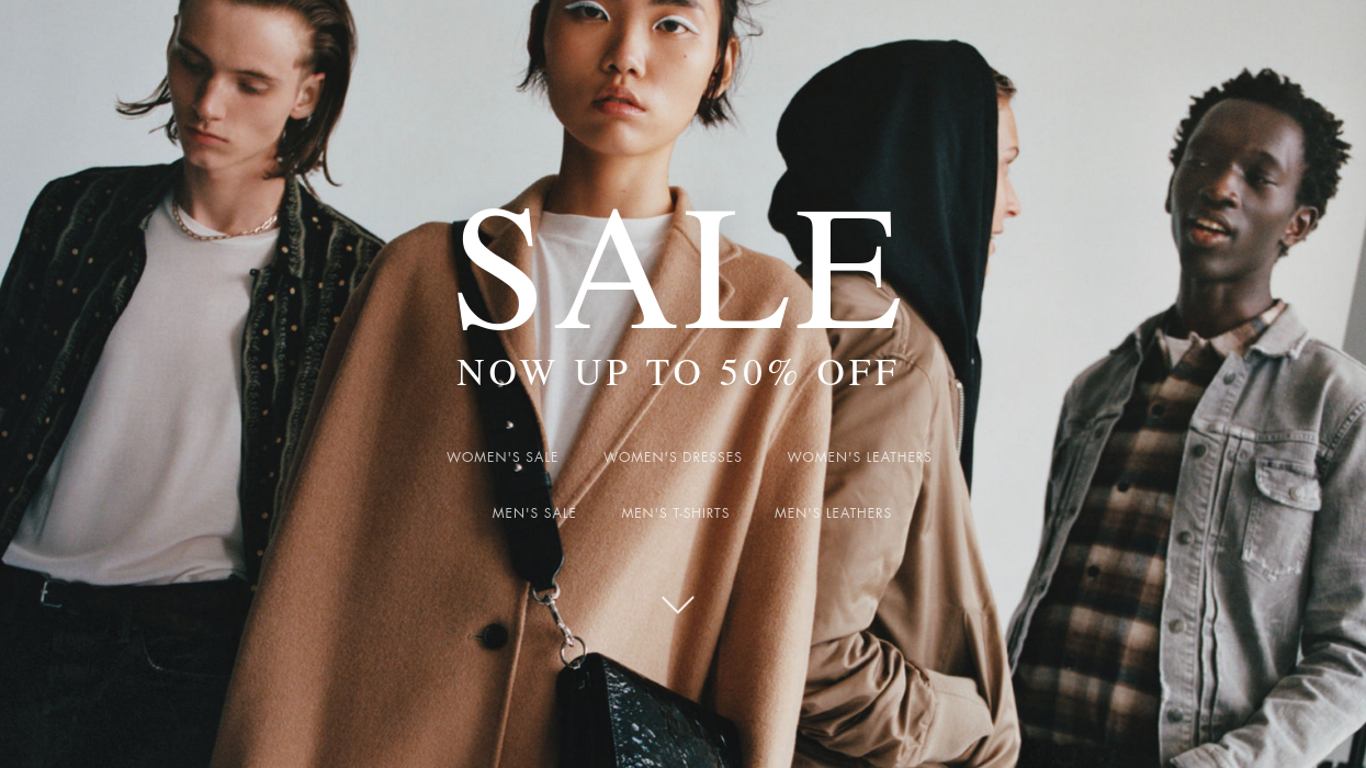 AllSaints: Sale up to 50% off leather jackets, clothing and accessories