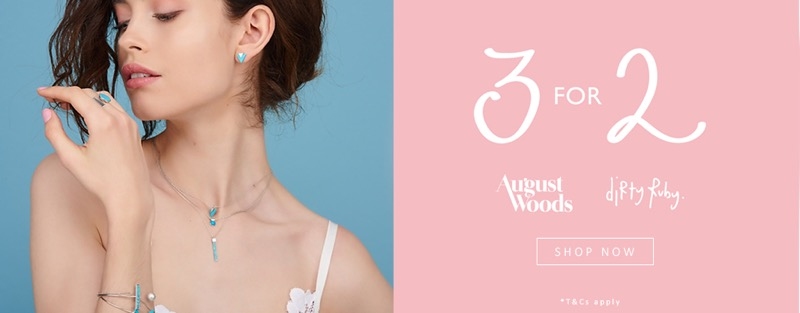 Argento Argento: 3 for 2 off Dirty Ruby and August Woods jewellery