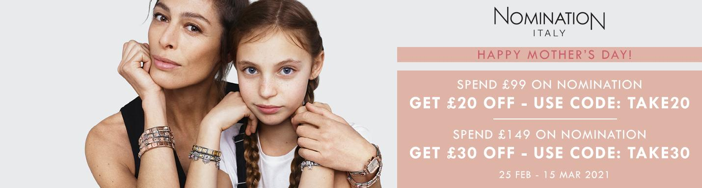 Argento: get £20 off when you spend £99 on Nomination Italy Jewellery