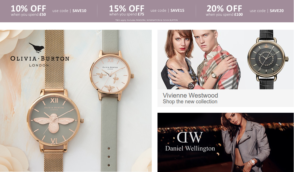 Argento Argento: up to 20% off jewellery and watches