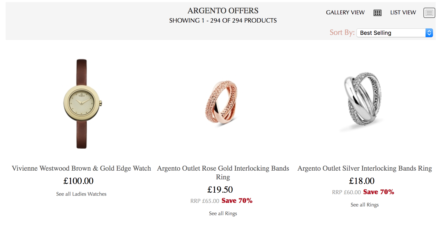 Argento Argento: up to 70% off jewellery