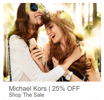 Argento: 25% off for Michael Kors Watches