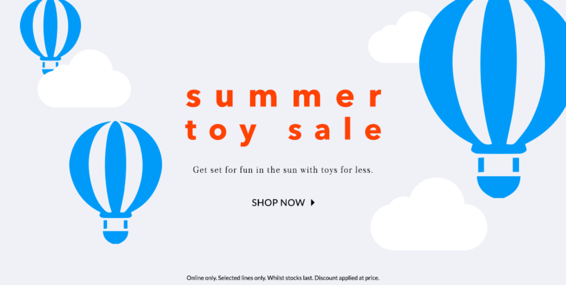 Asda George: Summer Sale up to 40% off toys