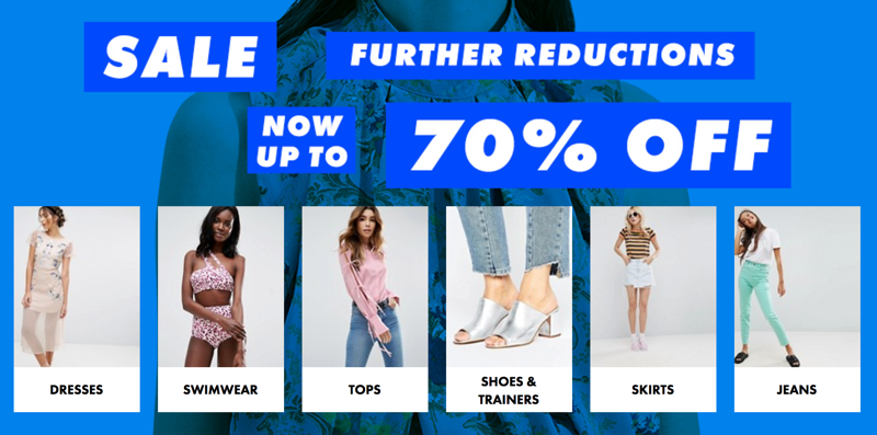 ASOS ASOS: Sale up to 70% off women's clothes