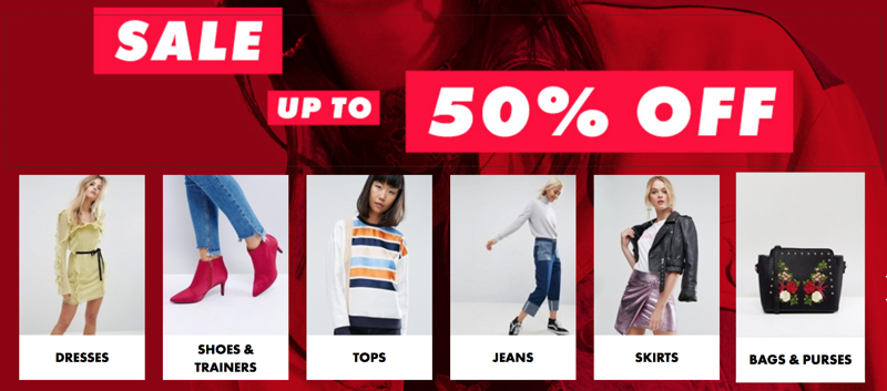 ASOS: up to 50% off women's and men's clothes