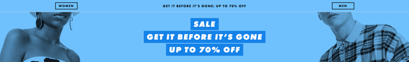 ASOS: Sale up to 70% off women's and men's clothing