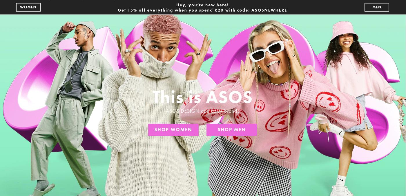 ASOS ASOS: 15% off everything