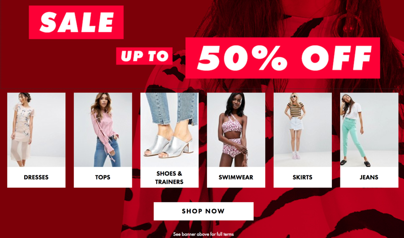ASOS ASOS: Sale up to 50% off clothes, shoes and accessories
