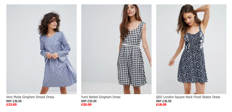 ASOS: Sale up to 60% off dresses