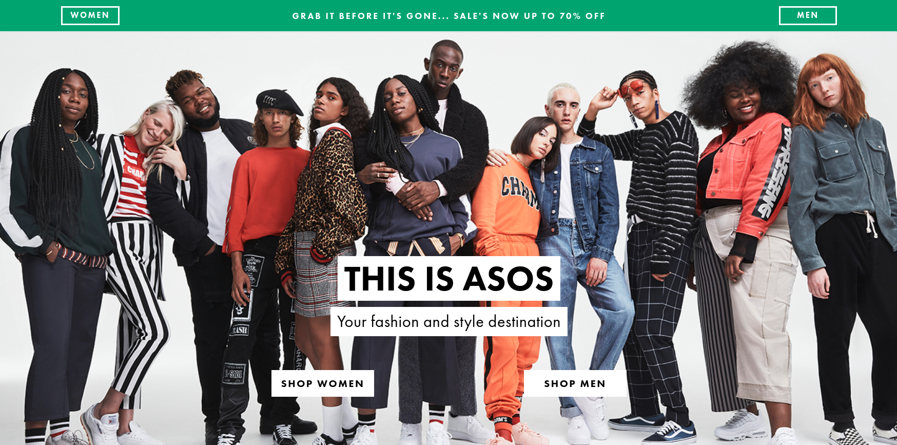 ASOS: up to 70% off clothing, shoes and accessories