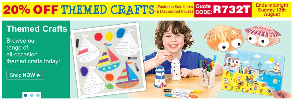 Baker Ross: 20% off themed crafts