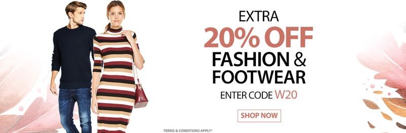 Bargain Crazy: 20% off fashion & footwear