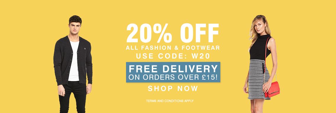 Bargain Crazy: 20% off all fashion & footwear