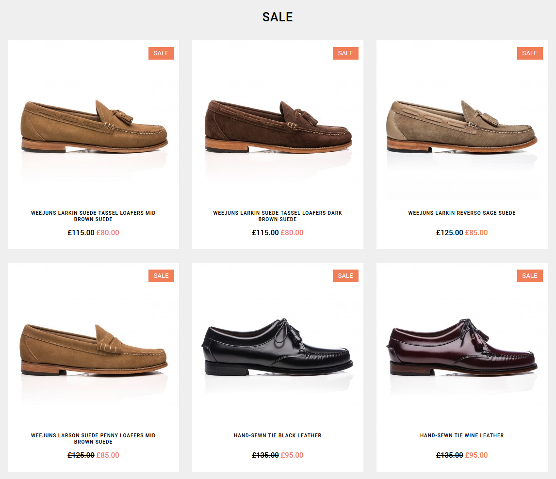 G.H. Bass: Sale up to 50% off shoes and socks