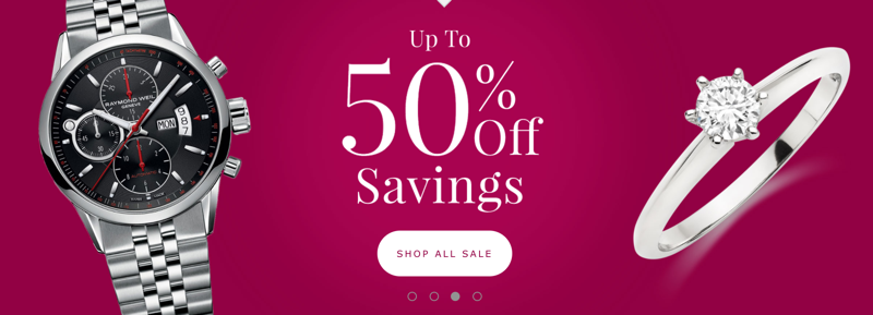 Beaverbrooks: up to 50% off jewellery and watches