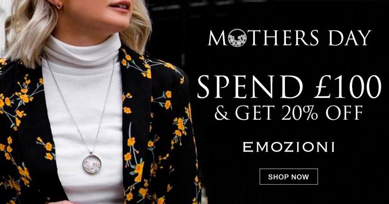 Bella Mia Boutique: spend £100 & get 20% off Emozioni jewellery