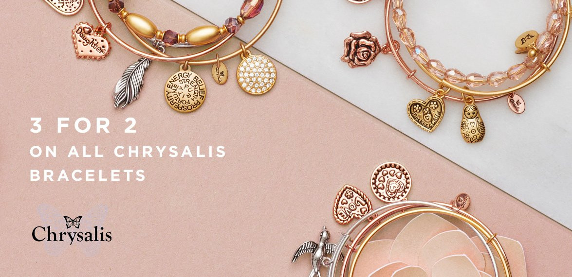 Bella Mia Boutique: 3 for 2 on all Chrysalis bracelets