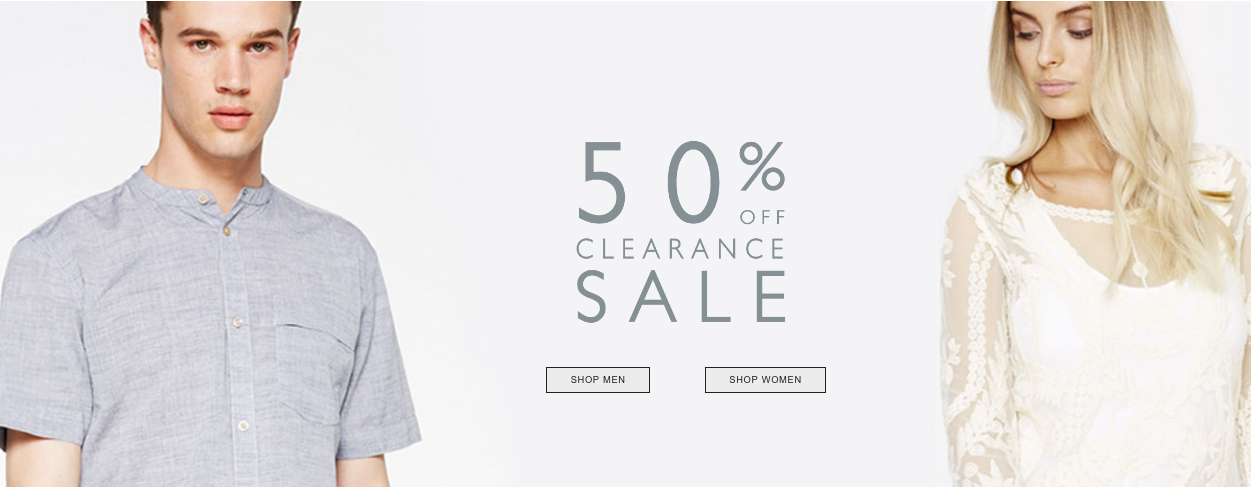 Bellfield: Sale 50% off mens and womens clothing