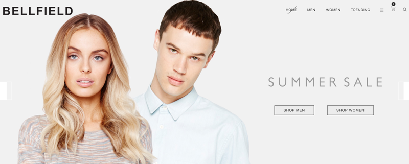 Bellfield: Summer Sale up to 30% off womens and mens clothing
