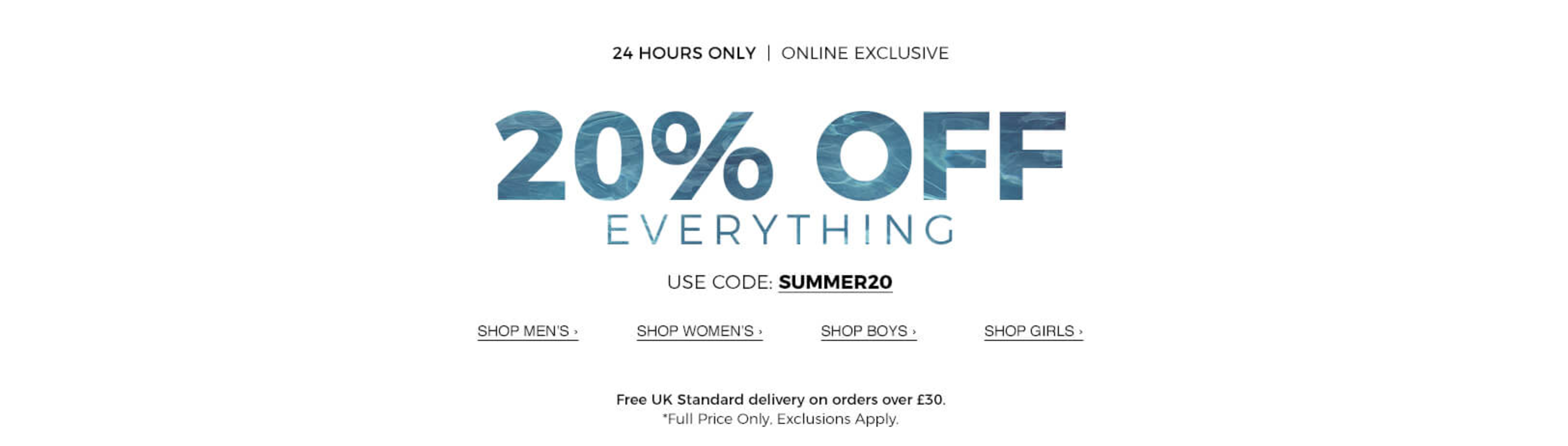 Blue Inc: 20% off everything