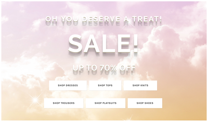 Blue Vanilla: Sale up to 70% off ladies fashion