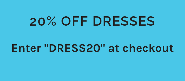 Blue Vanilla: 20% off dresses