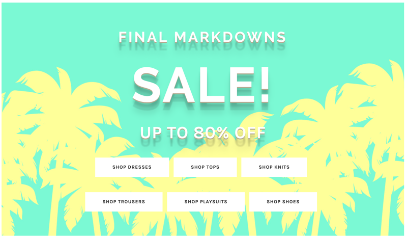 Blue Vanilla Blue Vanilla: Final Markdowns up to 80% off dresses, tops, knits, trousers, playsuits and shoes