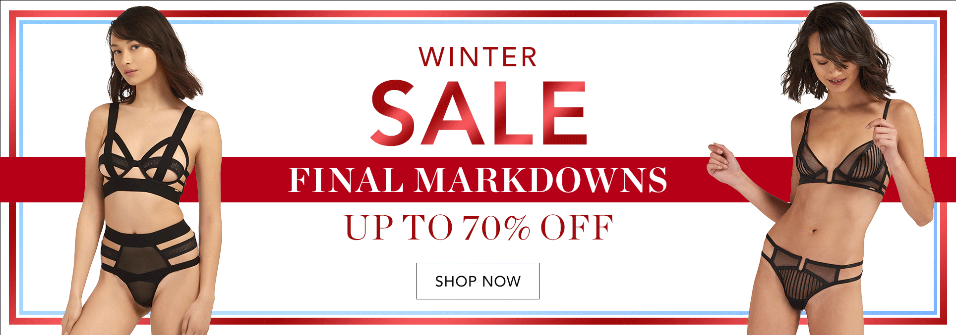 Bluebella: Winter Sale up to 70% off luxury lingerie