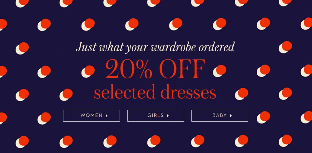 Boden Boden: 20% off selected dresses