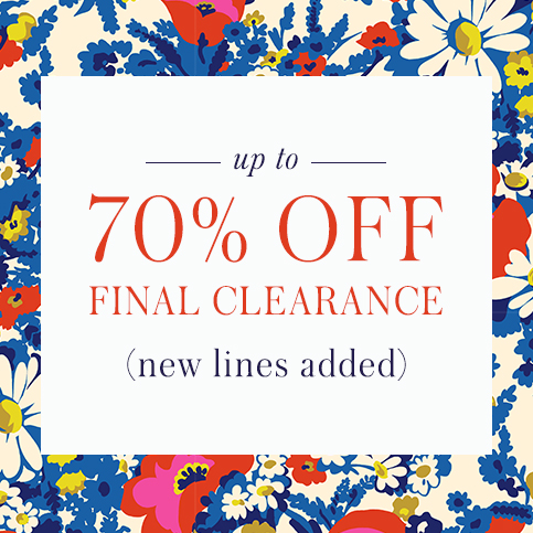 Boden: Final Sale up to 70% off clothing, shoes and accessories