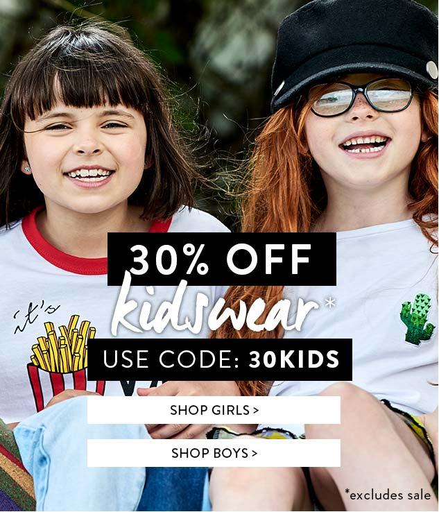 Boohoo: 30% off kidswear
