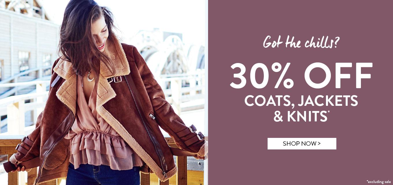 BooHoo: 30% off coats, jackets and knits