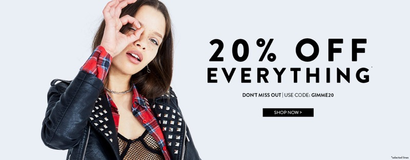 ef70f7d58075 Boohoo: 20% off ladies fashion