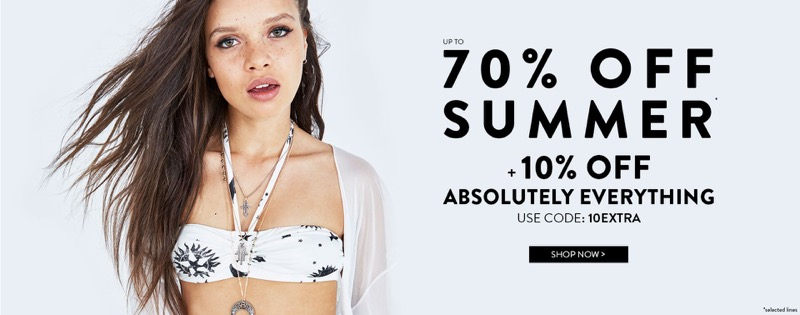 Boohoo Boohoo: Summer Sale up to 70% + 10% off absolutely everything