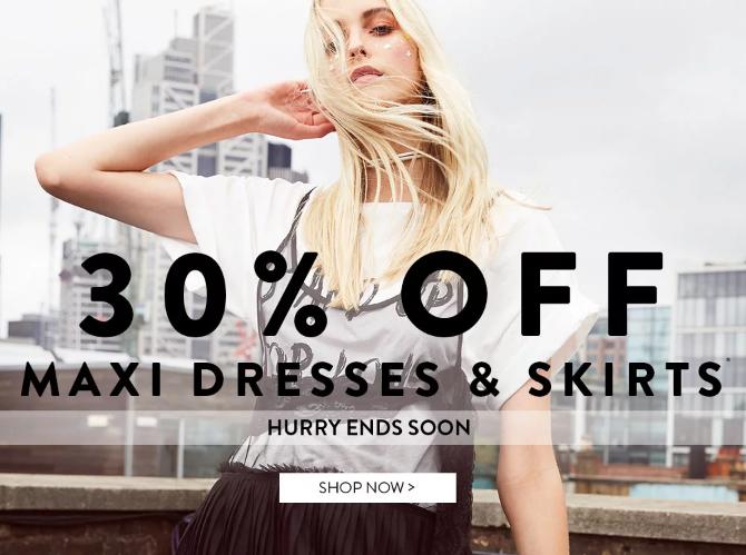 Boohoo Boohoo: 30% off maxi dresses and skirts